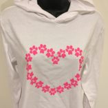 lovepaws white pink heart